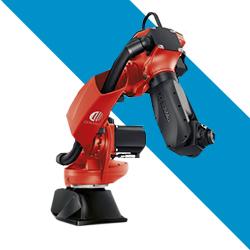 Brazo robótico High speed marca comau rojo