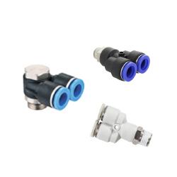 Conectores Y color negro y blanco marca Dewit