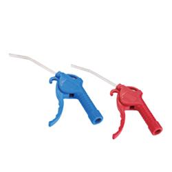 Pistola sopleteadora azul y roja marca dewit